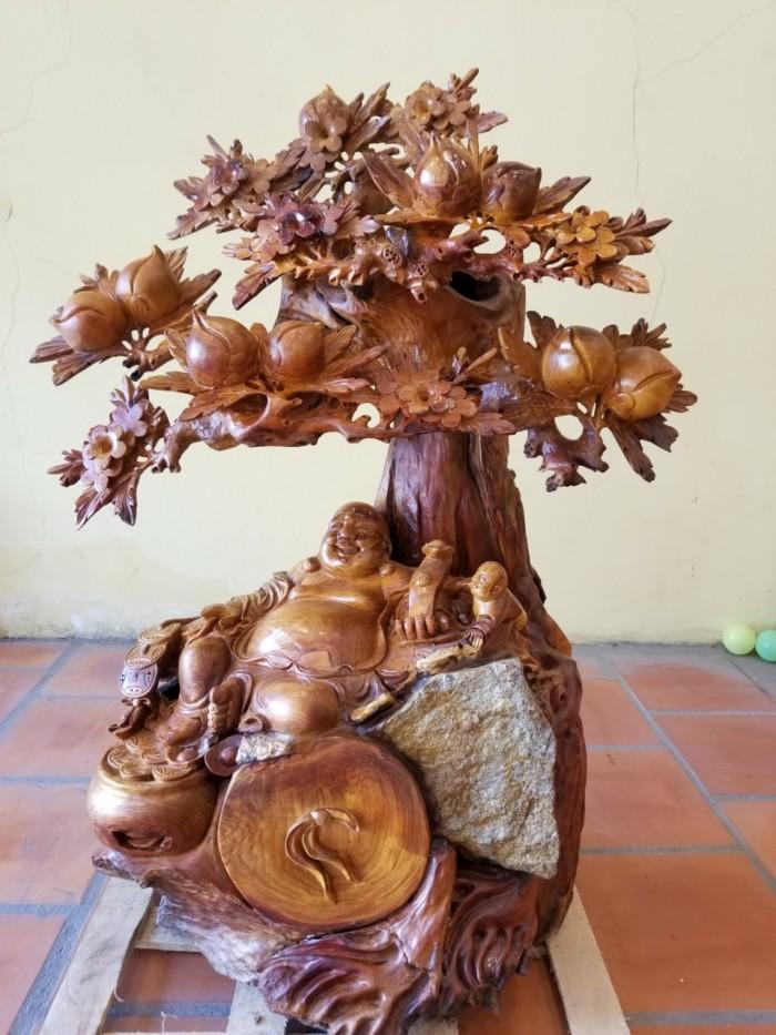 Tượng di lặc gỗ tốt , giá bèo1