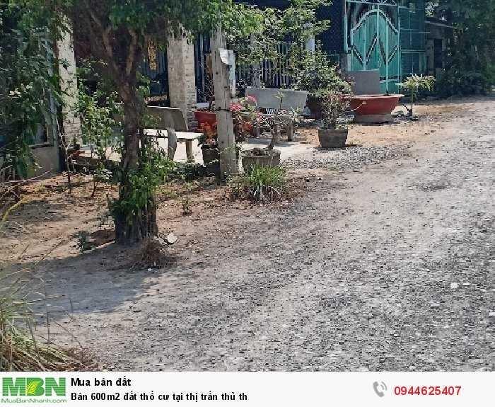 Bán 600m2 đất thổ cư tại thị trấn Thủ Thừa