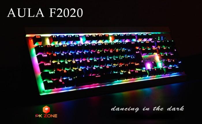 Bàn phím cơ AULA F2020 LED RGB nhảy theo nhạc1