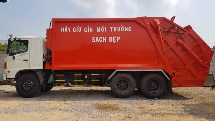 Xe chở rác 22 khối Hino - FM