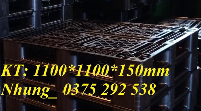 Pallet nhựa mới 1100*1100*150 mm Đen