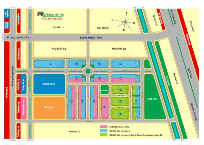 Bán Đất Kđt Richland City Hiệp Phước - Vị Trí Đẹp Nhất Dự Án - Sinh Lời Nhanh