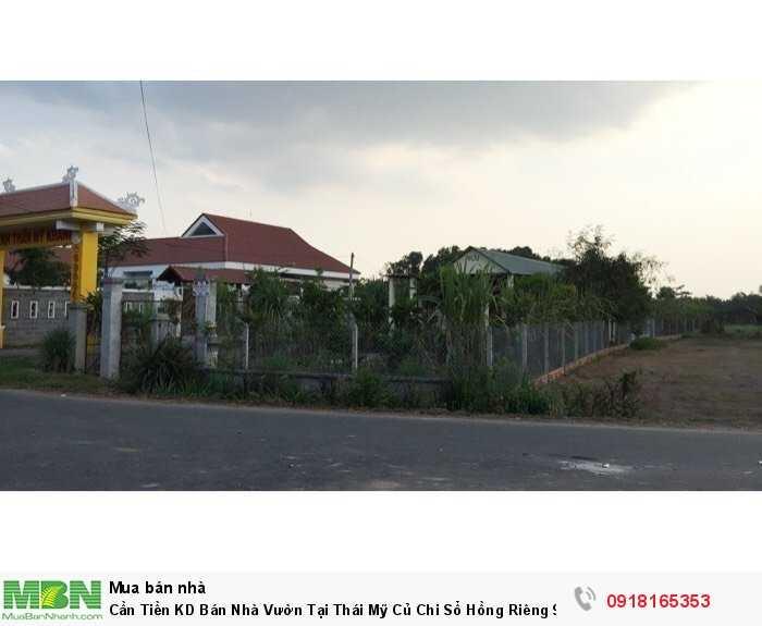 Cần Tiền KD Bán Nhà Vườn Tại Thái Mỹ Củ Chi Sổ Hồng Riêng 912m2