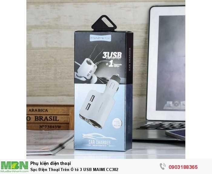 Sạc Điện Thoại Trên Ô tô 3 USB MAIMI CC302 2