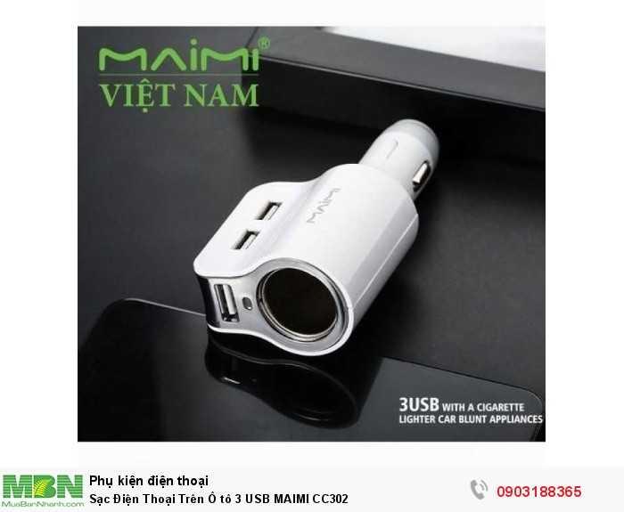 Sạc Điện Thoại Trên Ô tô 3 USB MAIMI CC302 3