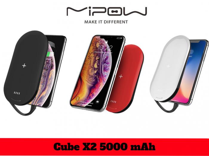 Cube X2 lần đầu được ứng dụng công nghệ vuốt cảm ứng để bật nguồn vô cùng khác biệt và tiện lợi. Chính điều này làm cho Cube X2 thanh lịch hơn, mỏng nhẹ hơn nhưng vẫn tạo ra sự tiện lợi cho người dùng khi tích hợp cả sạc không dây, 1 cổng USB A và đáng giá nhất trong sở trường của Mipow – Cable Lightning iPhone hoặc AirPod chuẩn MFI Apple cấp phép
