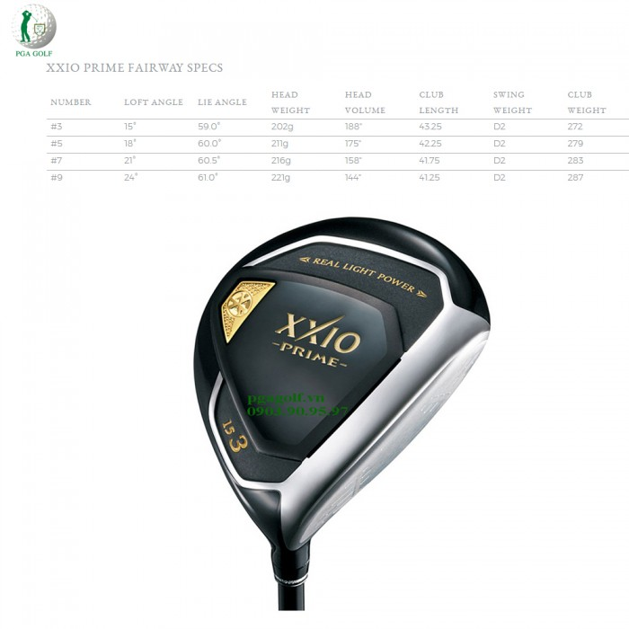 Bộ Gậy Golf XXIO Prime 10 SP1000 (New model)8
