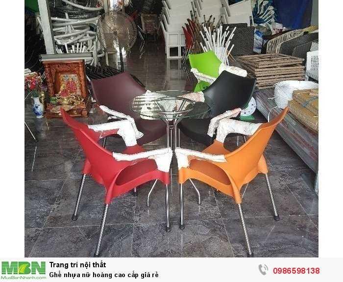 Ghế nhựa nữ hoàng cao cấp giá rẻ3
