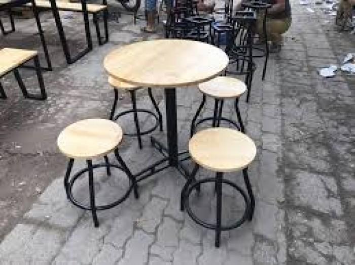 Bàn ghế gổ cafe giá rẻ tại xưởng sản xuất HGH 815