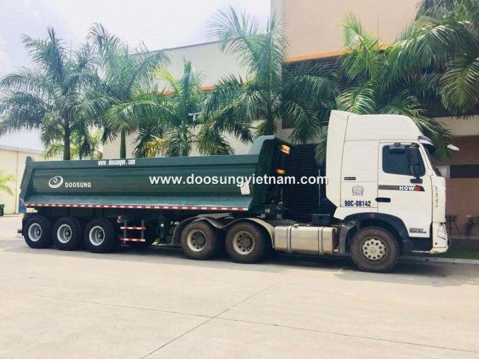 Bán Sơ mi rơ mooc Ben Chân Rút, hiệu Doosung, tải 29 tấn