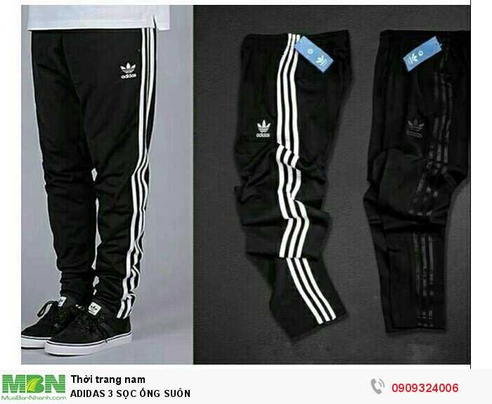 Adidas 3 Sọc Ống Suôn0
