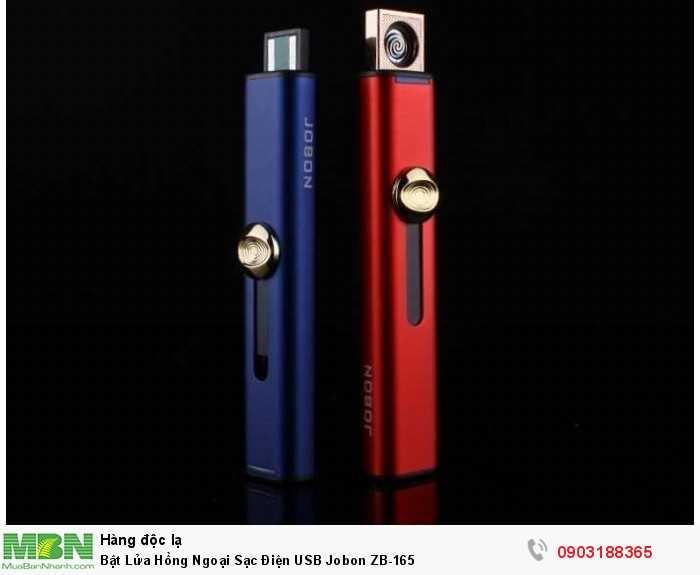 - Bật lửa (hộp quẹt) sạc điện Jobon ZB-165 cung cấp pin sạc, không cần khí, nhiên liệu. - Bật lửa sạc điện JOBON có thể sạc bằng cách sử dụng USB Slot và không cần nạp vào bất kỳ nhiên liệu nào cho bật lửa.0