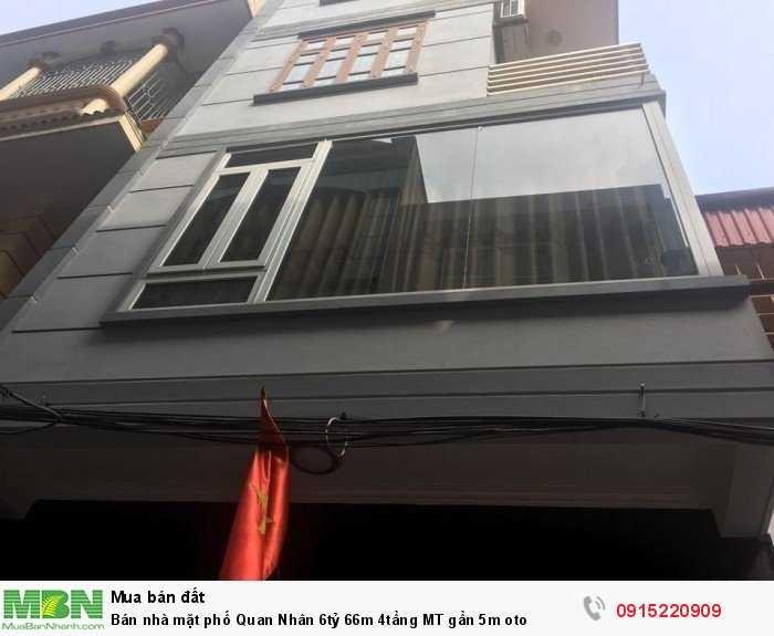 Bán nhà mặt phố Quan Nhân 66m 4tầng MT gần 5m oto
