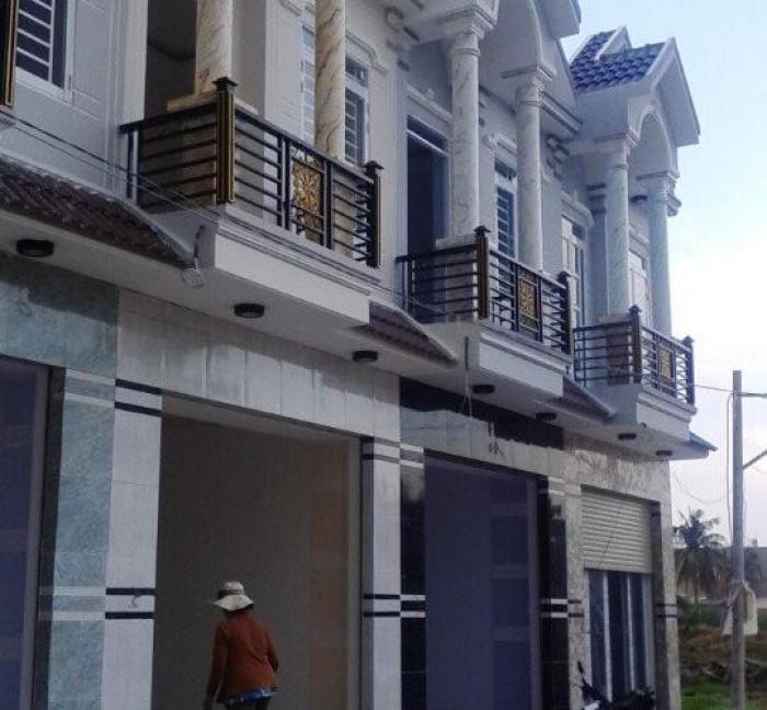TIÊU ĐỀ Bán 1 khu nhà 1 lầu mới xây sau lưng chợ Bình Chánh, sổ hồng