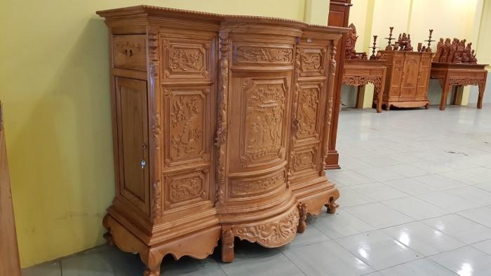 Tủ thờ 6 chân , thiết kế bụng phệ uy nghiêm8