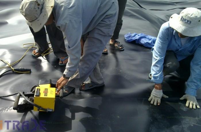 Màng chống thấm HDPE 0.5mm- huitex Đài Loan giá rẻ, thi công hàn màng0