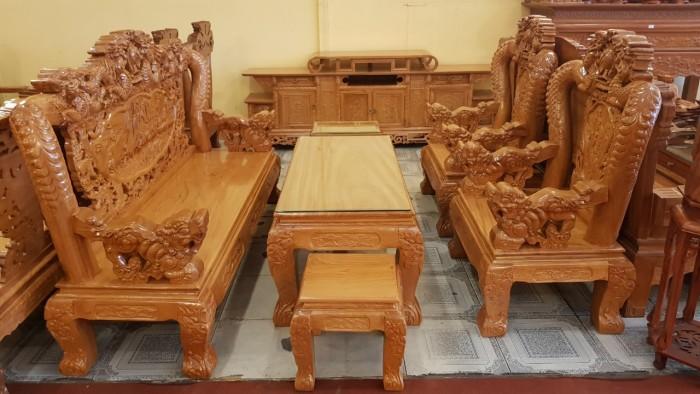 Bộ bàn ghế tay 12 với tên gọi lưỡng long chầu nguyệt4