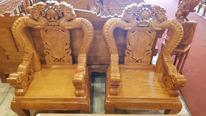 Bộ bàn ghế tay 12 với tên gọi lưỡng long chầu nguyệt5