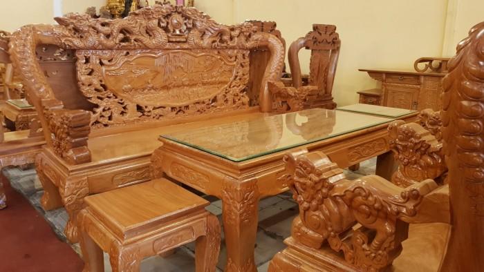 Bộ bàn ghế tay 12 với tên gọi lưỡng long chầu nguyệt3