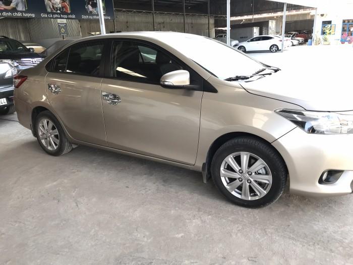 Bán Toyota Vios E 1.5MT màu vàng cát số sàn sản xuất cuối 2016 mẫu mới máy trắng 7