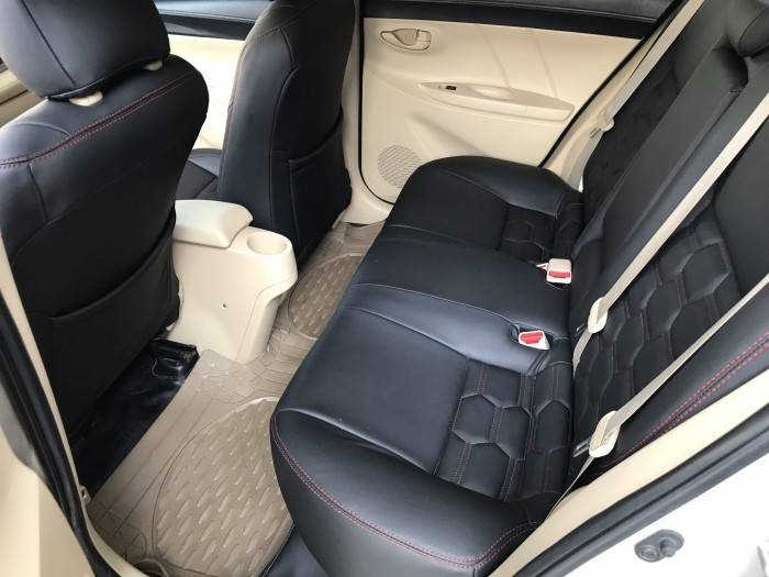 Bán Toyota Vios E 1.5MT màu vàng cát số sàn sản xuất cuối 2016 mẫu mới máy trắng 8