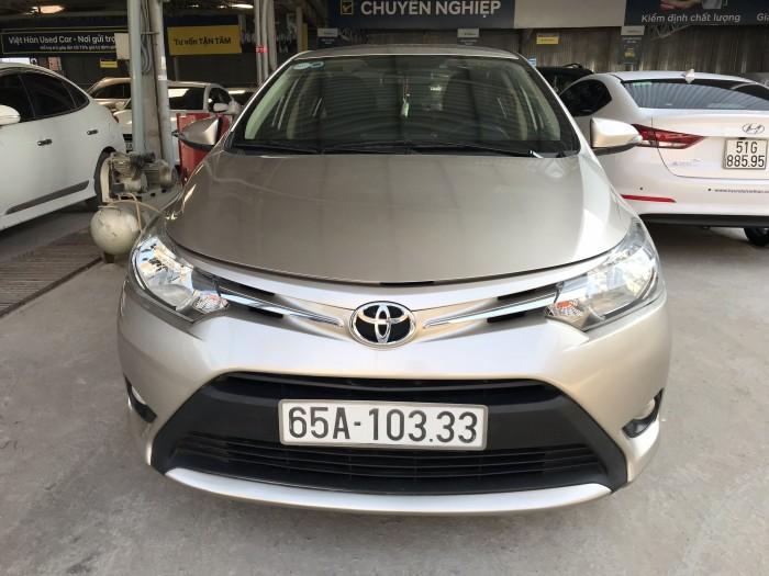 Bán Toyota Vios E 1.5MT màu vàng cát số sàn sản xuất cuối 2016 mẫu mới máy trắng 4