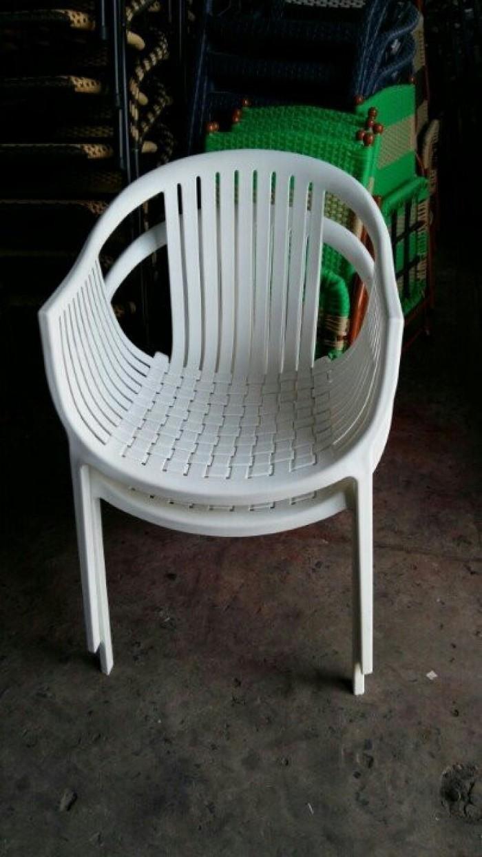 Bàn ghế nhựa giá rẻ tại xưởng sản xuất HGH 8490