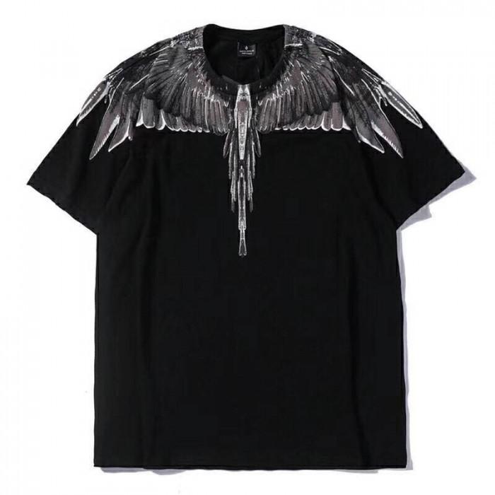Áo thun nam đen in cánh chim đại bàng xám AT00110