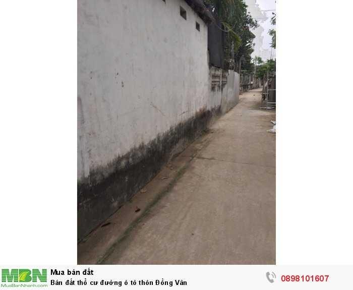 Bán đất thổ cư đường ô tô thôn Đồng Vân
