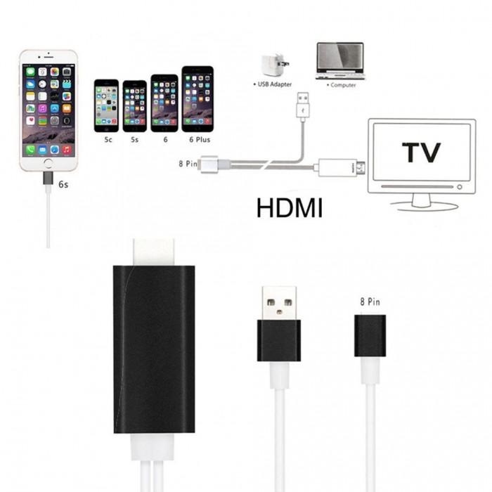 Cáp Iphone 5 6 Ra HDMI - Lightning to HDMI (Cực Hot)0