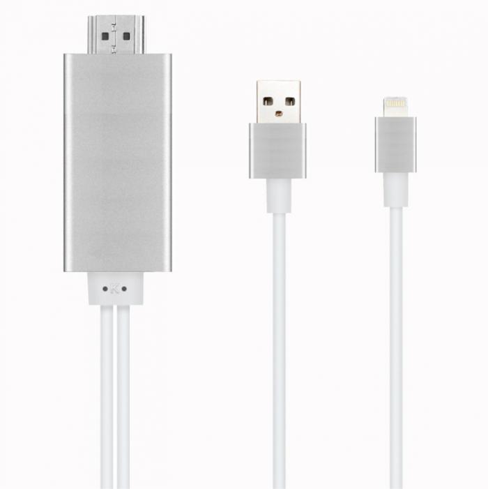 Cáp Iphone 5 6 Ra HDMI - Lightning to HDMI (Cực Hot)2