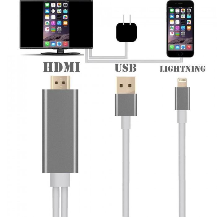Cáp Iphone 5 6 Ra HDMI - Lightning to HDMI (Cực Hot)1
