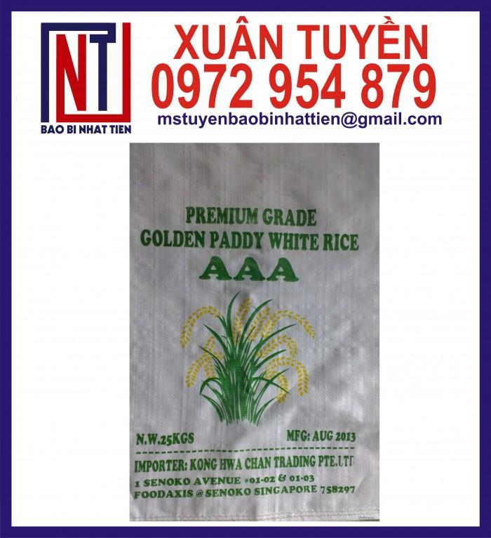Cung cấp bao gạo ghép màng hoặc tráng nhựa PP27