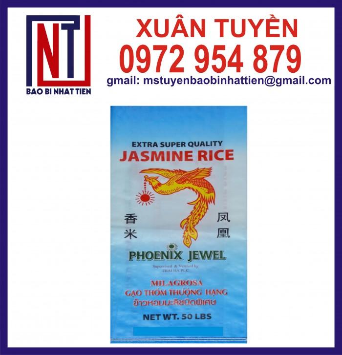 Cung cấp bao gạo ghép màng hoặc tráng nhựa PP26