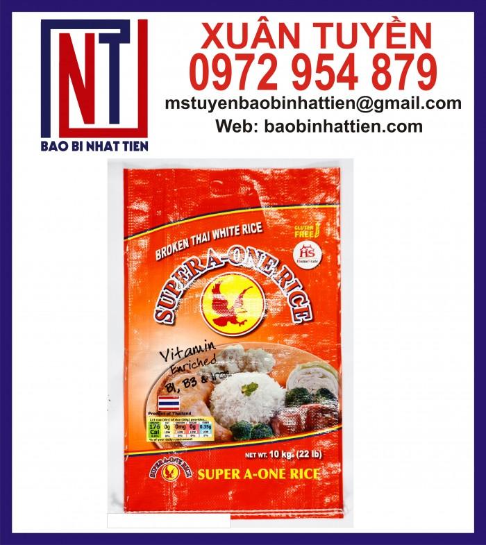 Cung cấp bao gạo ghép màng hoặc tráng nhựa PP22