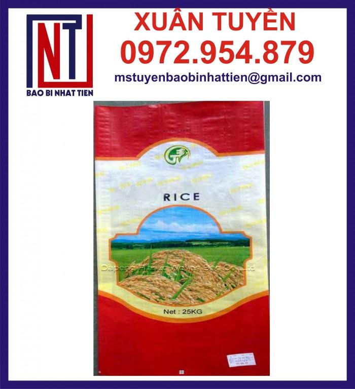 Cung cấp bao gạo ghép màng hoặc tráng nhựa PP20