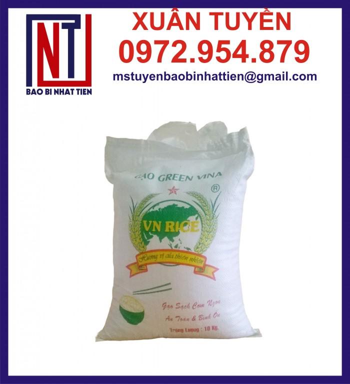 Cung cấp bao gạo ghép màng hoặc tráng nhựa PP19