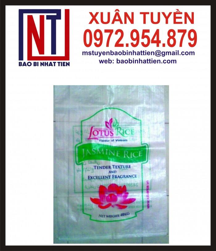 Cung cấp bao gạo ghép màng hoặc tráng nhựa PP14