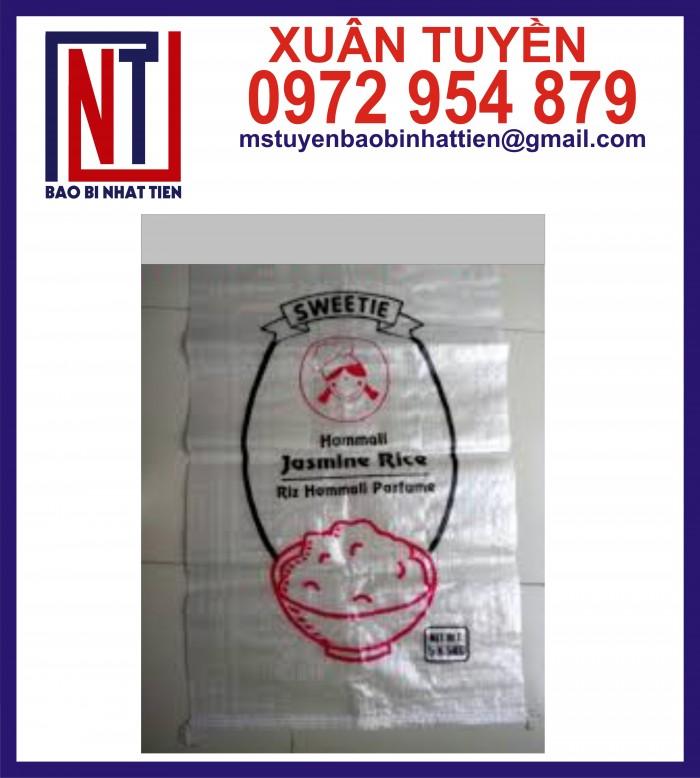 Cung cấp bao gạo ghép màng hoặc tráng nhựa PP13