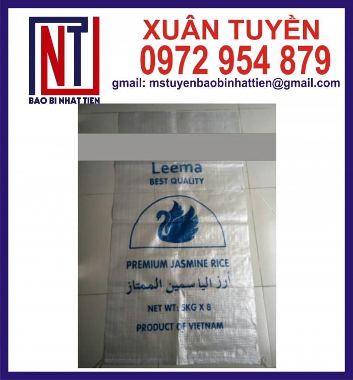 Cung cấp bao gạo ghép màng hoặc tráng nhựa PP15