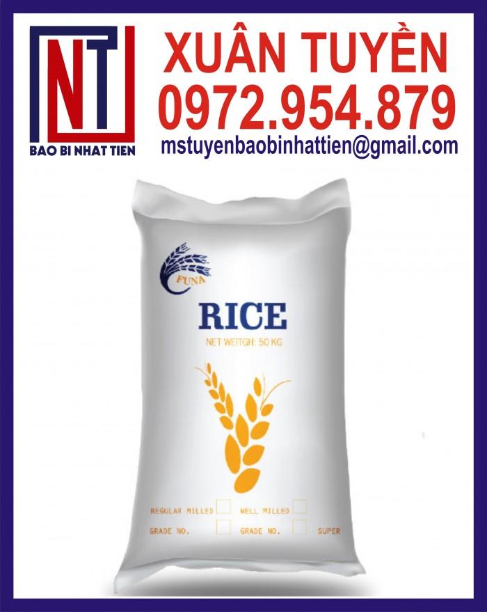 Cung cấp bao gạo ghép màng hoặc tráng nhựa PP12