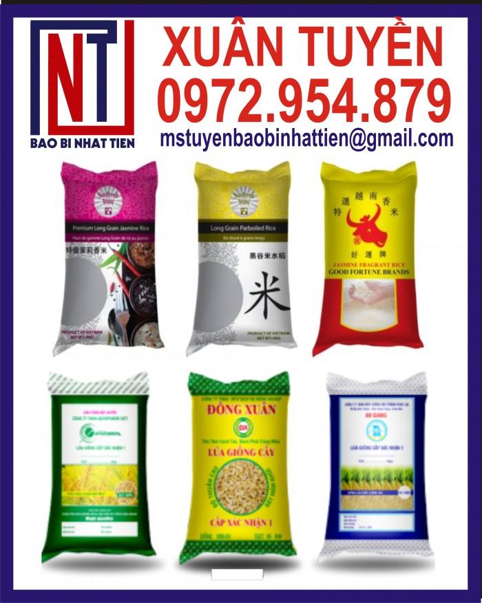 Cung cấp bao gạo ghép màng hoặc tráng nhựa PP9