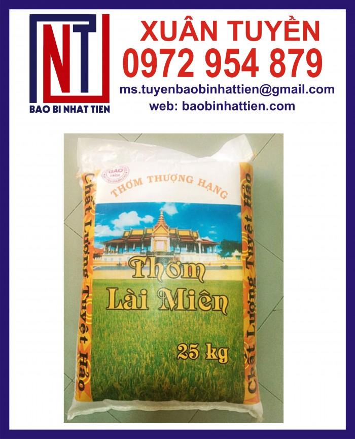 Cung cấp bao gạo ghép màng hoặc tráng nhựa PP7