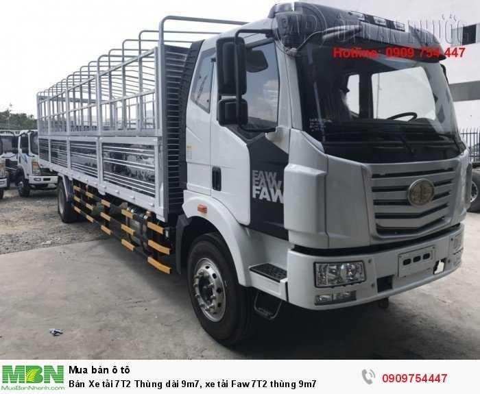 Bán Xe tải 7T2 Thùng dài 9m7, xe tải Faw 7T2 thùng 9m7