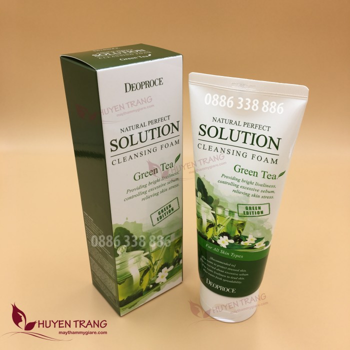 Sữa rửa mặt trà xanh Hàn Quốc Green Tea DEOPROCE
