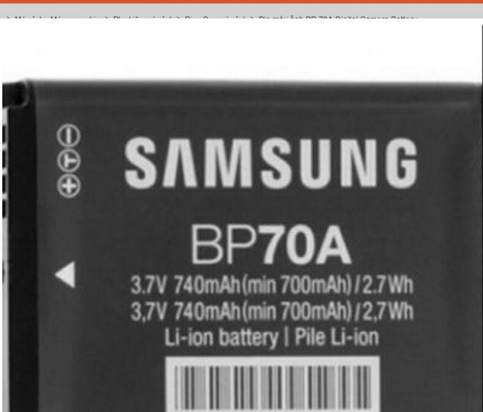 Pin Máy Ảnh BP 70A Digital Camera Battery1