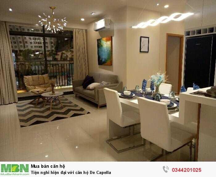 Tiện nghi hiện đại với căn hộ De Capella