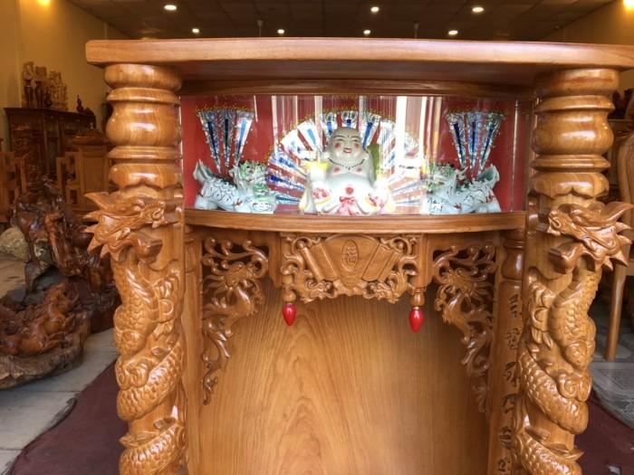 Bàn thờ gỗ gỏ đỏ hộp đèn 70cm3