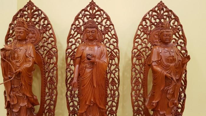 Bộ tượng tam thế phật cao 1m , hàng đẹp tại Tiền Giang5