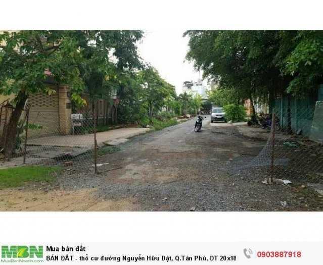 BÁN ĐẤT thổ cư đường Nguyễn Hữu Dật Q Tân Phú